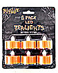 Flameless Orange Tea Lights 6 Pack