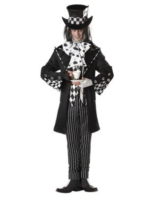 Victorian Men's Costumes: Mad Hatter, Rhet Butler, Willy Wonka Mens Dark Mad Hatter Costume - Alice in Wonderland by Spirit Halloween $69.99 AT vintagedancer.com