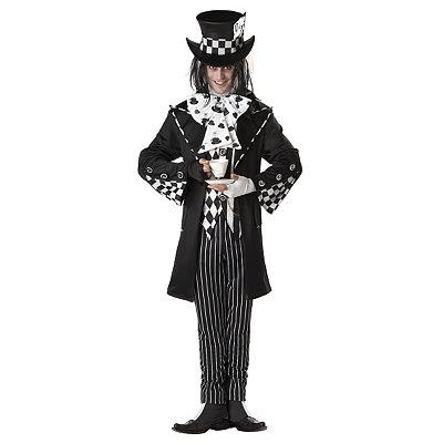 Vintage Men's Costumes – 1920s, 1930s, 1940s, 1950s, 1960s Adult Dark Costume - Mad Hatter $69.99 AT vintagedancer.com