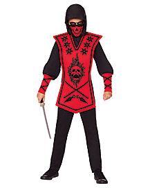 Kids Red Skull Lord Ninja Costume