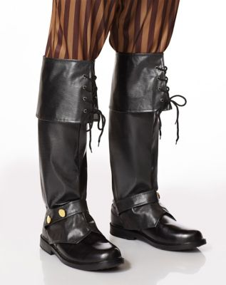 Steampunk Boots and Shoes for Men Tall Pirate Boot Covers - Deluxe by Spirit Halloween $19.99 AT vintagedancer.com