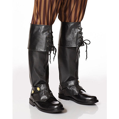 Steampunk Boots and Shoes for Men Tall Pirate Boot Covers - Deluxe $19.99 AT vintagedancer.com