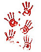 Skeleton Hand Print Wall Clings - Decorations
