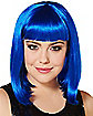 Dark Blue Pageboy Wig
