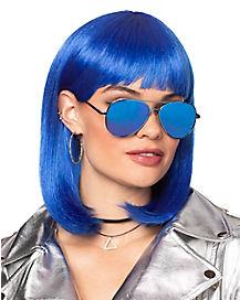 Dark Blue Pageboy Wig