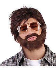 Night in Vegas Wig and Beard Set