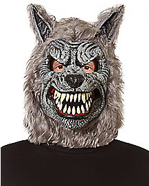 Moving Mouth White Wolf Mask - Spirithalloween.com