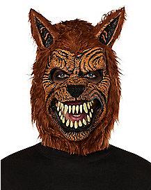 Brown Wolf Mask with Hands - Spirithalloween.com