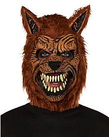 Animotion Brown Werewolf Mask