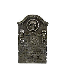 22 in Skull Ribbon Tombstone - Decorations