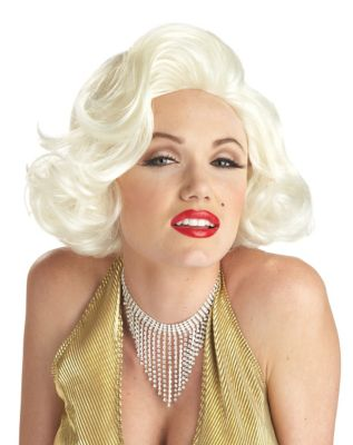 Vintage Hair Accessories: Combs, Headbands, Flowers, Scarf, Wigs Marilyn Monroe Wig - Marilyn Monroe by Spirit Halloween $19.99 AT vintagedancer.com