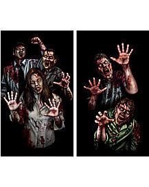 zombie asylum double poster decorations