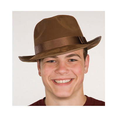 1930s Style Mens Hats Adventure Hat Faux Suede $12.99 AT vintagedancer.com