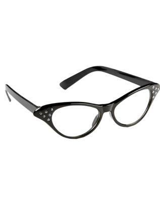 Retro Sunglasses | Vintage Glasses | New Vintage Eyeglasses 50s Black Rhinestone Glasses by Spirit Halloween $7.99 AT vintagedancer.com