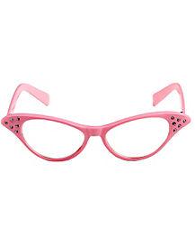 50s Pink Rhinestone Glasses