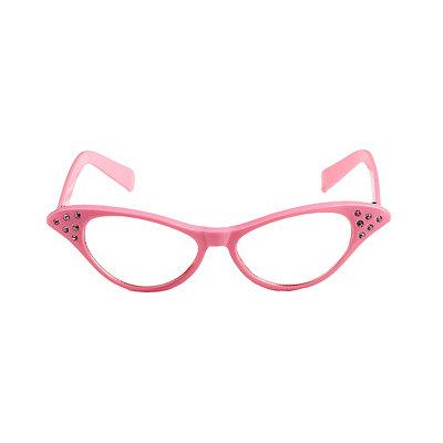 1950s Costumes 50s Pink Rhinestone Glasses $7.99 AT vintagedancer.com