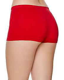 Seamless Boyshort Panties - Red