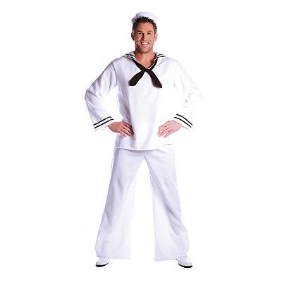 Vintage Men's Costumes – 1920s, 1930s, 1940s, 1950s, 1960s Adult White Sailor Costume $34.99 AT vintagedancer.com