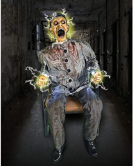 4 5 ft electrocuted prisoner animatronics decorations for Decoration maison halloween