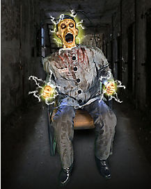 4.5 Ft Electrocuted Prisoner Animatronics - Decorations