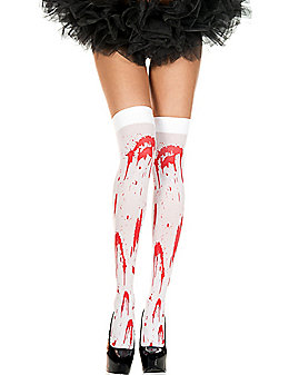 Bloody Zombie Thigh High Stockings