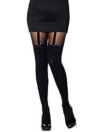 Garter Opaque Thigh High Stockings