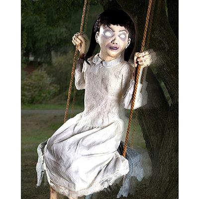 Zombie Girl Swing Animated Prop