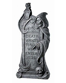2.5 ft Resin Reaper Tombstone - Decorations