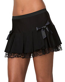 Mini Skirt with Tulle Underlay