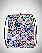 Adventure Time Allover Button Print Cinch Bag