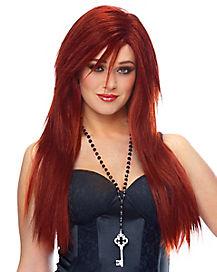 Sleek Red Wig