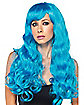 Neon Blue Monster Wig
