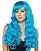 Neon Blue Monster Wig