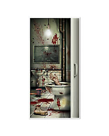 Bloody Bathroom Door Cover - Decorations