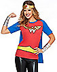Caped Wonder Woman T Shirt - DC Comics