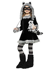 Kids Sweet Raccoon Costume