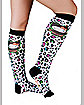 Hello Kitty Leopard Adult Knee High Socks