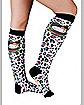 Hello Kitty Leopard Adult Knee High Socks