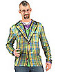 Faux Real Plaid Sportcoat Adult Mens Costume