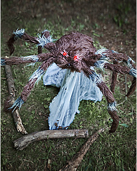 21 Inch Brown Jumping Spider Animatronics - Decorations