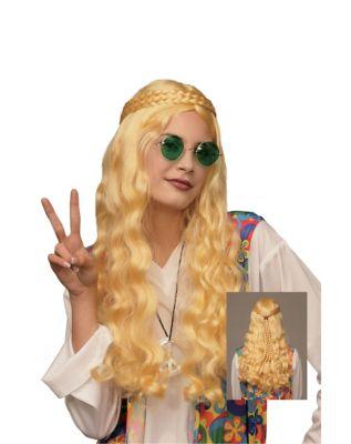 Vintage Hair Accessories: Combs, Headbands, Flowers, Scarf, Wigs Blonde Hippie Wig by Spirit Halloween $16.99 AT vintagedancer.com