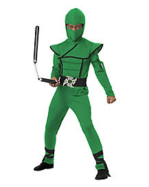 Kids Stealth Green Ninja Costume