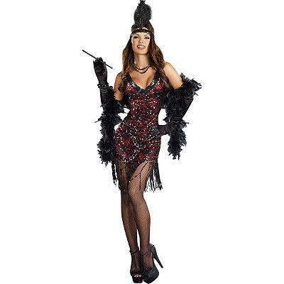 1920s Style Costumes Adult Dames Like Us Flapper Costume $49.99 AT vintagedancer.com