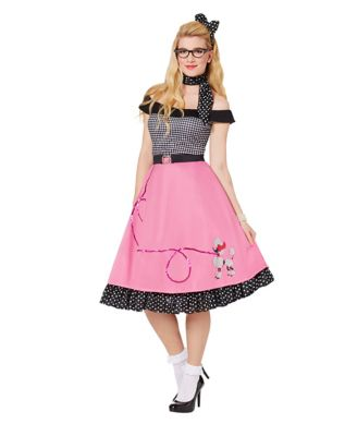 1950s Costumes- Poodle Skirts, Grease, Monroe, Pin Up, I Love Lucy Adult 50s Girl Costume by Spirit Halloween $49.99 AT vintagedancer.com