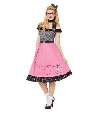 Poodle Skirts | Poodle Skirt Costumes, Patterns Adult 50s Girl Costume by Spirit Halloween $49.99 AT vintagedancer.com