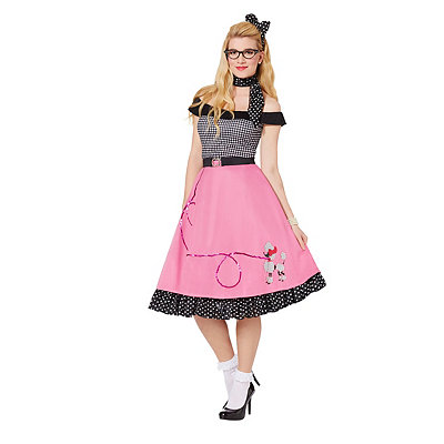Pin Up Dresses | Pin Up Clothing Adult 50s Girl Costume $49.99 AT vintagedancer.com