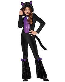 Kids Black Cat One Piece Costume