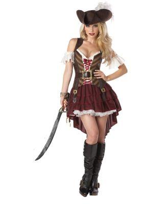 Steampunk Dresses | Women & Girl Costumes Adult Sexy Swashbuckler Pirate Costume by Spirit Halloween $59.99 AT vintagedancer.com