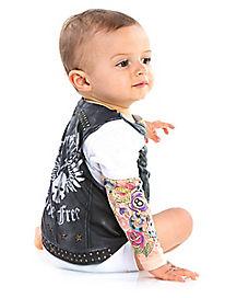 Baby One Piece Biker Costume