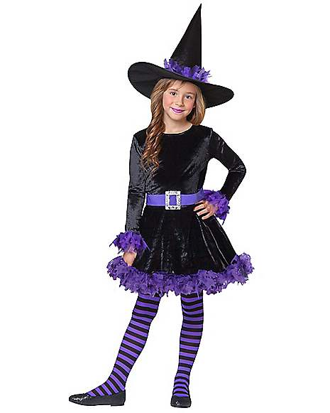 Kids Purple Shredded Witch Costume Spirithalloween Com